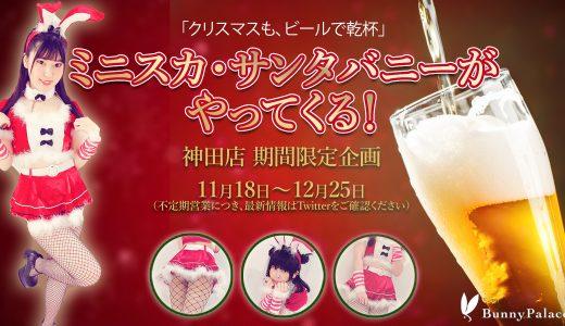 神田店に「ミニスカ・サンタバニー」がやってくる!